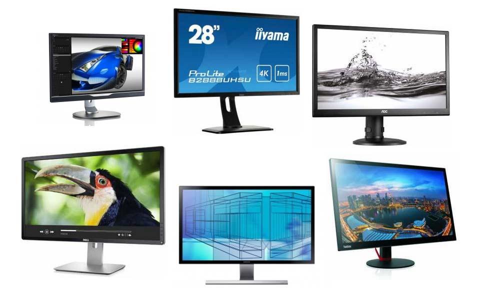 Sechs 4K Monitore unter 600 Euro