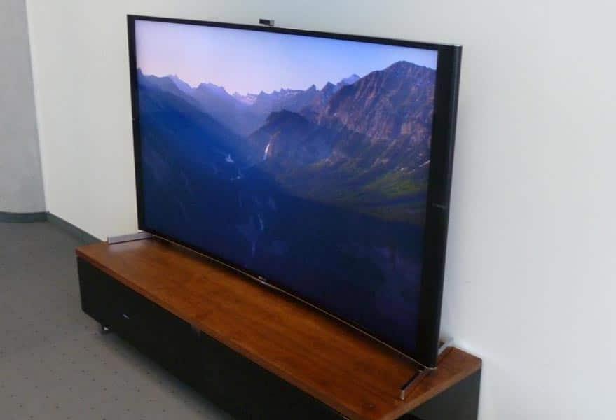 sony s90 erster curved tv von sony auf der ifa 2014 4k. Black Bedroom Furniture Sets. Home Design Ideas