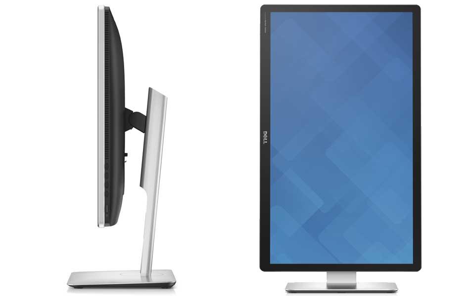 Dell Ultrasharp Ultra HD 5K von der Seite + Pivotfunktion