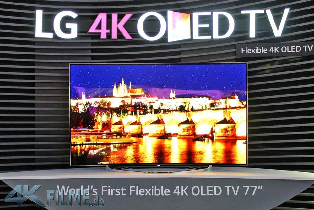 LG Bendable 4K OLED TV mit 77 Zoll