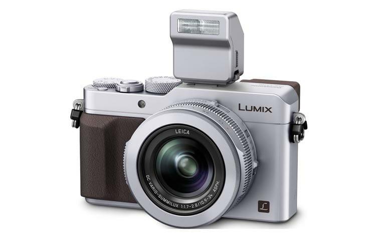 Lumix LX100 im Classic Look mit Blitzlicht