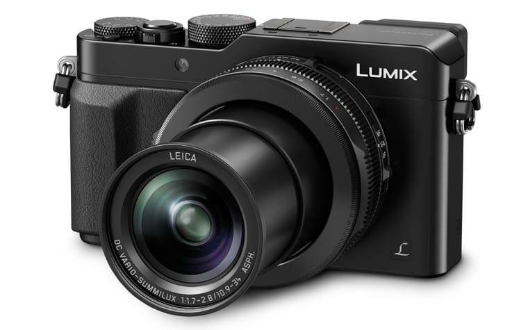 Lumix DMC-LX100 mit ausgefahrenem Objektiv