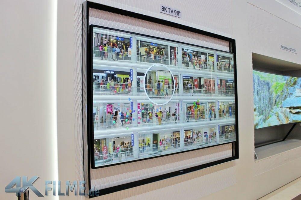 Detailgrad des Samsung 98 Zoll 8K TVs
