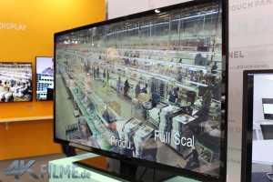 Seiki 55 Zoll 4K Monitor von der Seite
