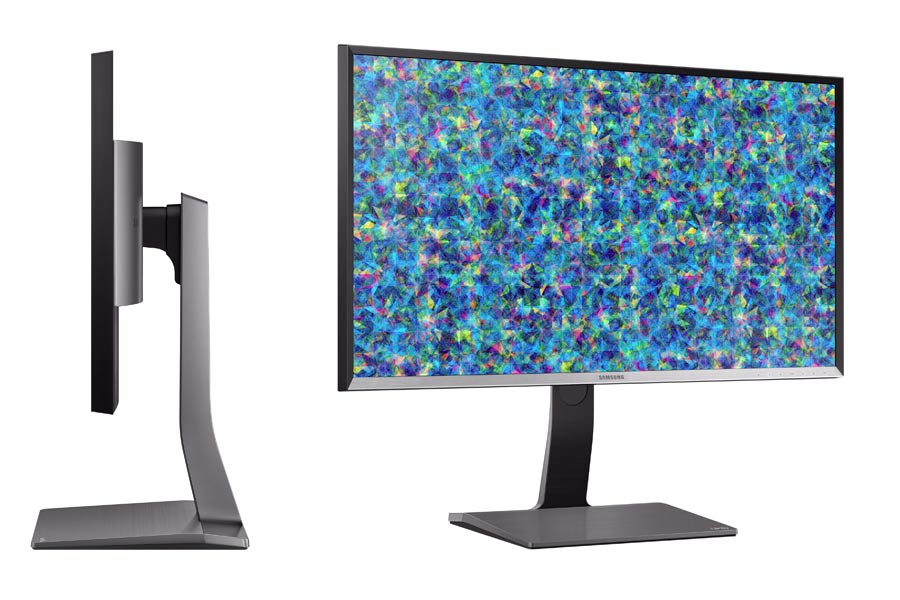 Samsung UD970 4K Monitor von der Seite