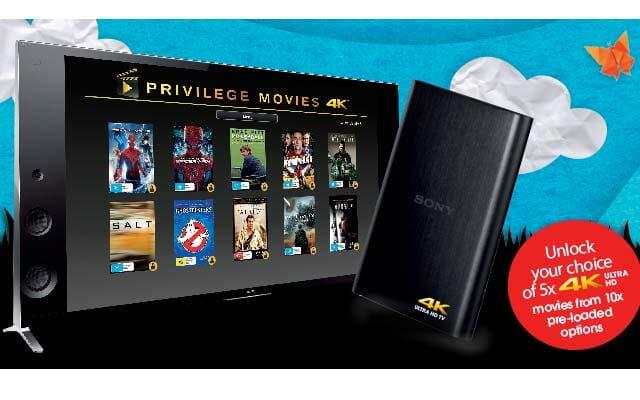 Sony 4K Filme auf Festplatte