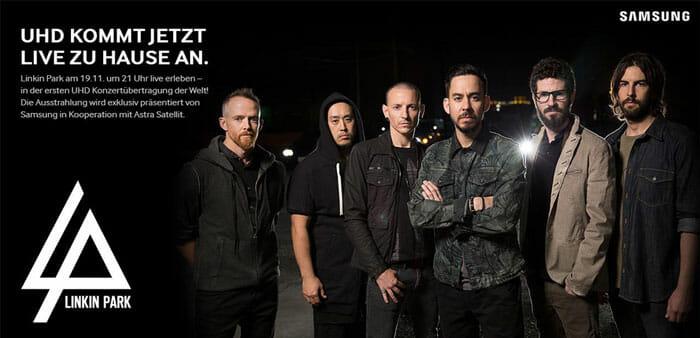 Linkin Park 4K Livekonzert von Samsung und Sky Deutschland