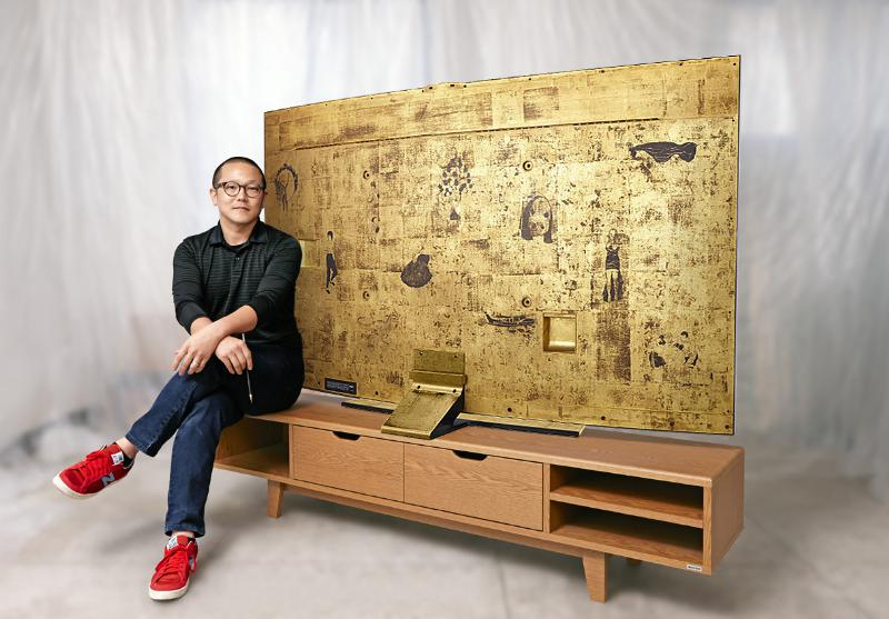 Samsung HU8590 4K TV mit Gold bemalter Rückseite (Sung Yong Hong Special Edition)