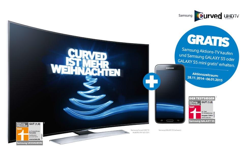 samsung galaxy s5 beim kauf eines curved smart tvs. Black Bedroom Furniture Sets. Home Design Ideas