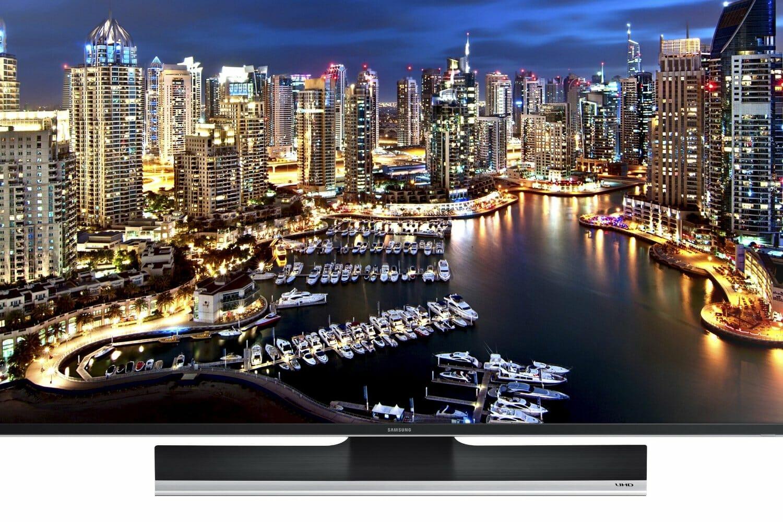 Samsung 55 Zoll HU6900 4K Fernseher Frontansicht