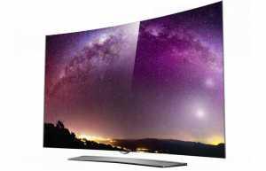 Der gebogene LG 65EG9600 4K OLED TV der Floating Art Serie