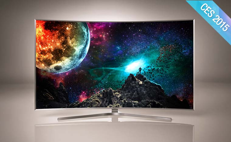 neue samsung suhd 4k fernseher mit tizen os ces 2015. Black Bedroom Furniture Sets. Home Design Ideas