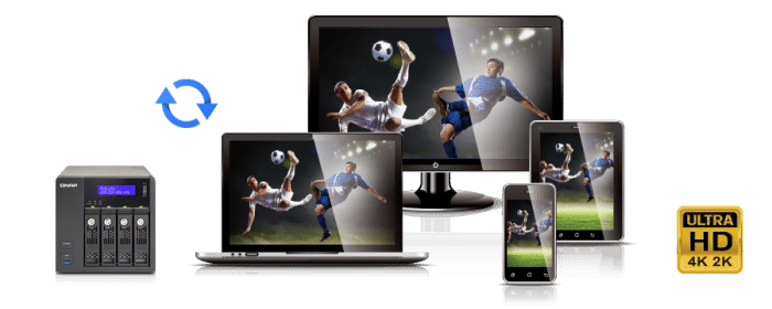 QNAP TVS-X71 NAS mit 4K Ultra HD Wiedergabe und Kodierung