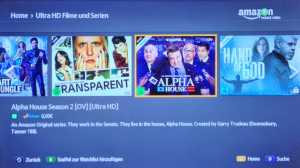Amazon Ultra HD Streaming von Filmen und Serien