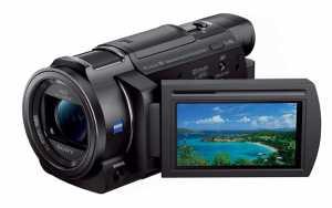 Das drehbare LCD Display des FDR-AXP33 4K Camcorders