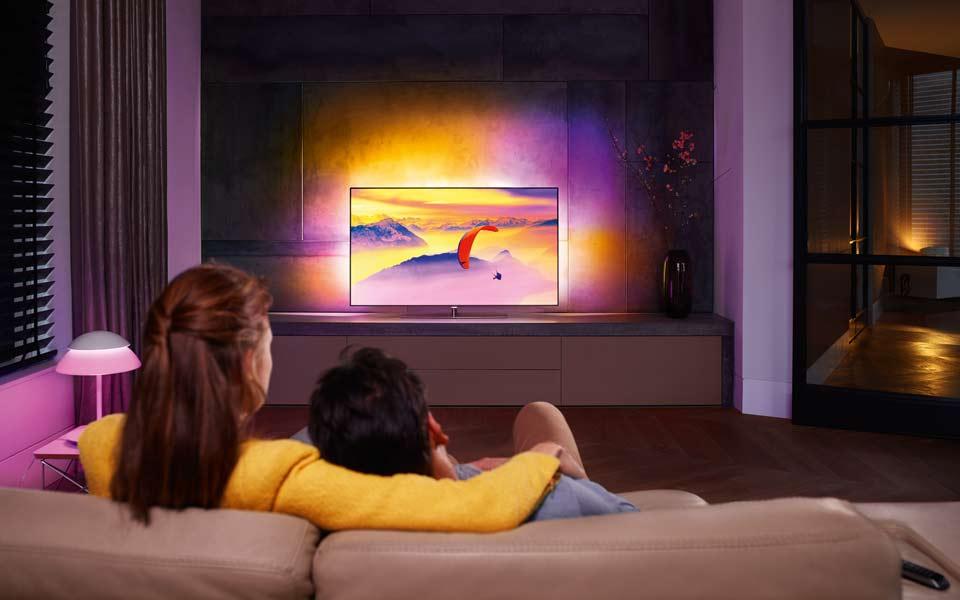 Philips PUS7600 4K Fernseher mit Ambilight