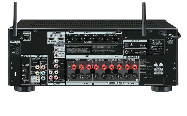 Rückseite/ Anschlüsse Pioneer VSX-1130