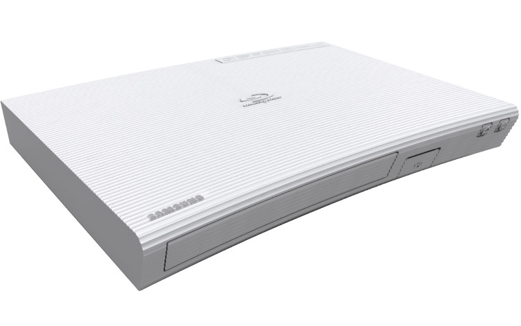Samsung BD-J5500E 3D Blu-ray Player in weiß