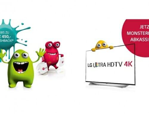 Bis zu 450 Euro Cashback beim Kauf eines neuen LG 4K TVs