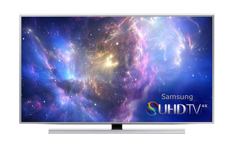 SUHD TV mit flachem Display mit gebürstetem Metall