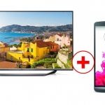 LG 65UF7709 + LG G3 Smartphone Bundle