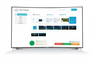 My TV Cloud ermöglicht das hochladen von eigenen Videos und Bildern
