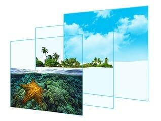JS7000 SUHD TV mit flachem Display