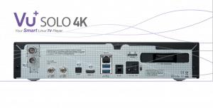 VU+ Solo 4K Rückseite / Anschlüsse