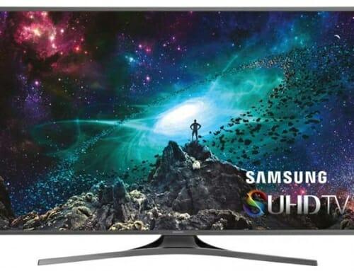 Neuer Samsung SUHD TV mit flachem Panel und HDR im Sicht
