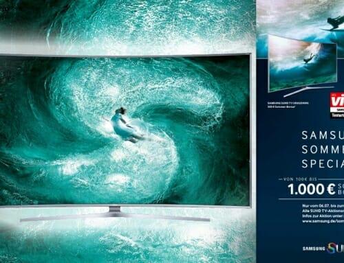 Bis zu 1.000 € Sommer-Bonus bei Samsungs SUHD-Aktion