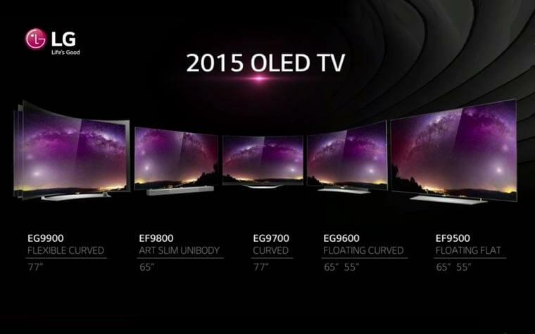 LG OLED 2015 Lineup