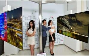 111 Zoll 4K OLED Fernseher mit doppelseitigem Display
