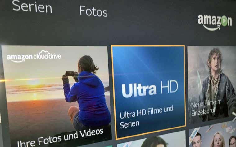 Alle 4K Serien und Filme auf Amazon Instant Video