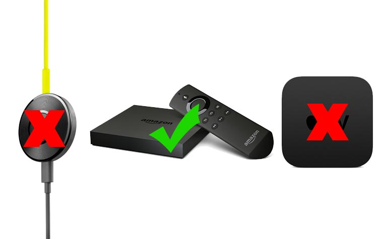 Amazon bannt Google Chromecast und Apple TV