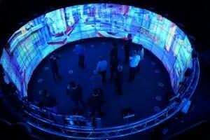 Indoor Events wie dieser Aufbau werden mit der NV 810 ermöglicht.