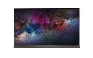 Frontansicht der G6 Signature 4K OLED TVs mit flachem Display