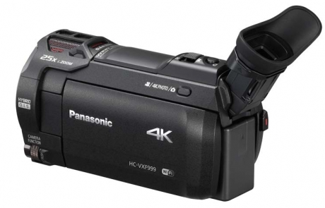 Auch ein Knopf für 4K-Bilder ist am HC-VXF999 vorhanden