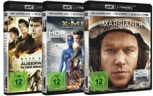 Die deutschen 4K Blu-ray Cover