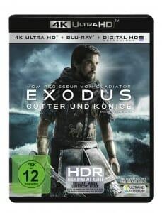 Exodus: Götter und Könige 4K Blu-ray deutsches Cover