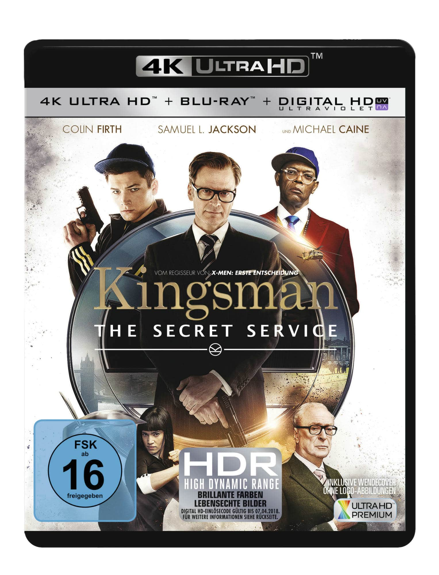 Kingsman: The Secret Service 4K Blu-ray deutsches Cover