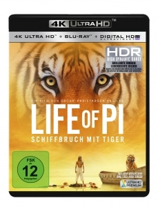 Life of Pi 4K Blu-ray deutsches Cover