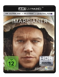 Der Marsianer - Rettet Mark Whatney 4K Blu-ray deutsches Cover