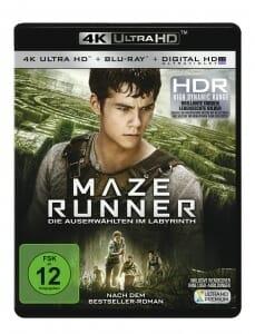 Maze Runner 4K Blu-ray deutsches Cover