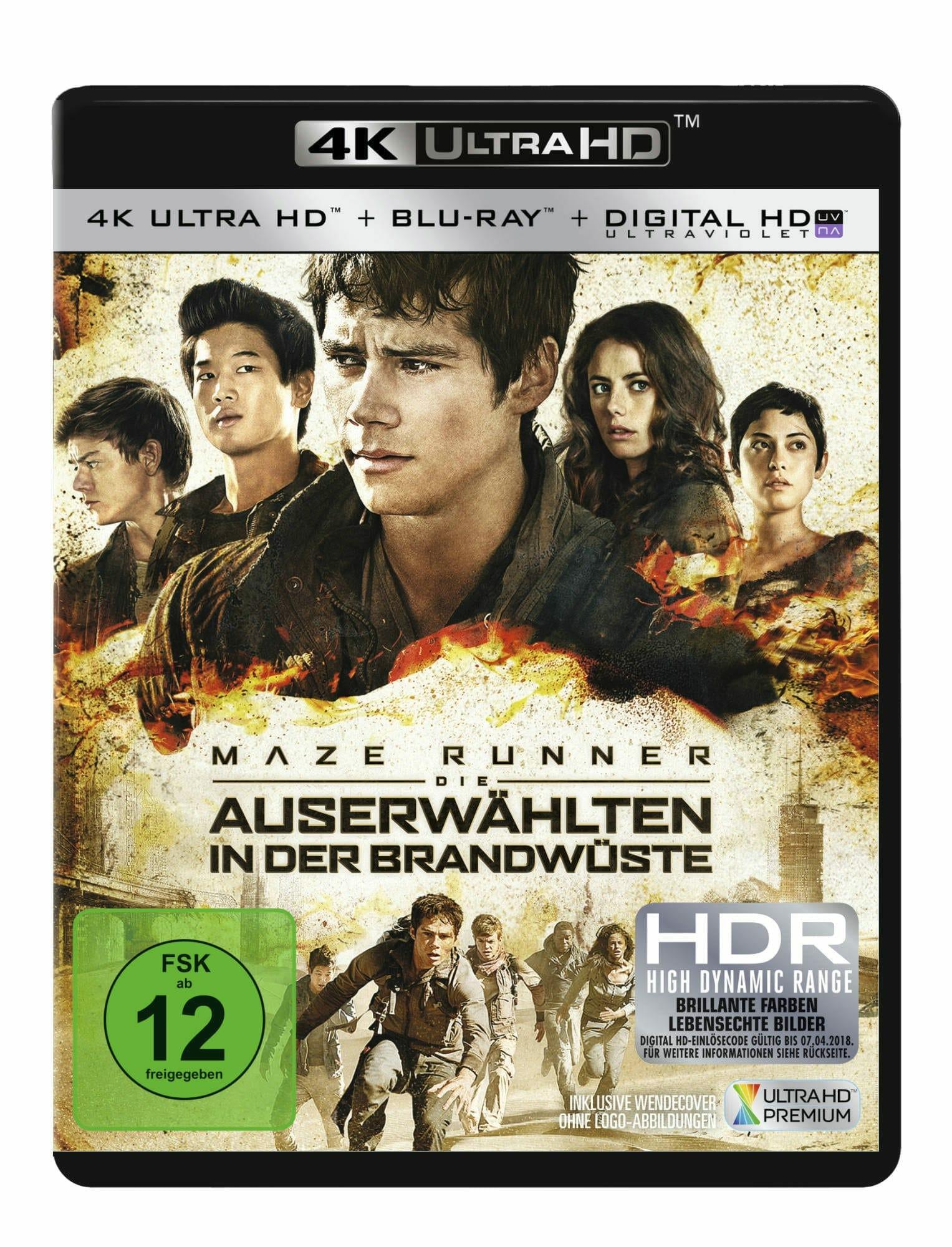 Maze Runner 2 4K Blu-ray deutsches Cover