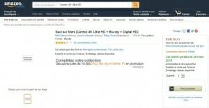"""Listung """"Der Marsianer - Rettet Mark Whatney"""" auf Amazon.fr"""