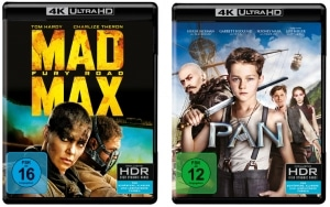 Mad Max: Fury Road und Pan als 4K Blu-ray