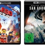 The LEgo Movie und San Andreas als 4K Blu-ray