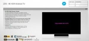 ZS9 65 Zoll 4K Fernseher mit Backlight Master Drive