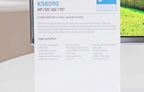 Spezifikationen und Features der KS8090 Serie