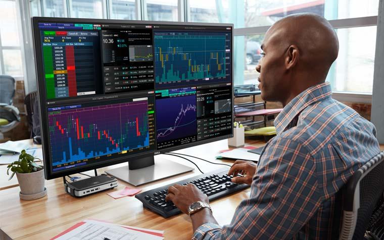 Dell P4317Q 4K Monitor mit 43 Zoll